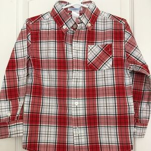 Janie & Jack plaid dress shirt size 3